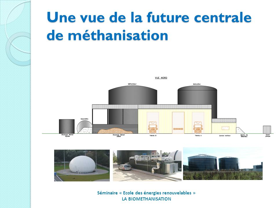 Une vue de la future centrale de méthanisation