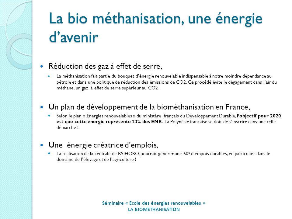 La bio méthanisation, une énergie d'avenir
