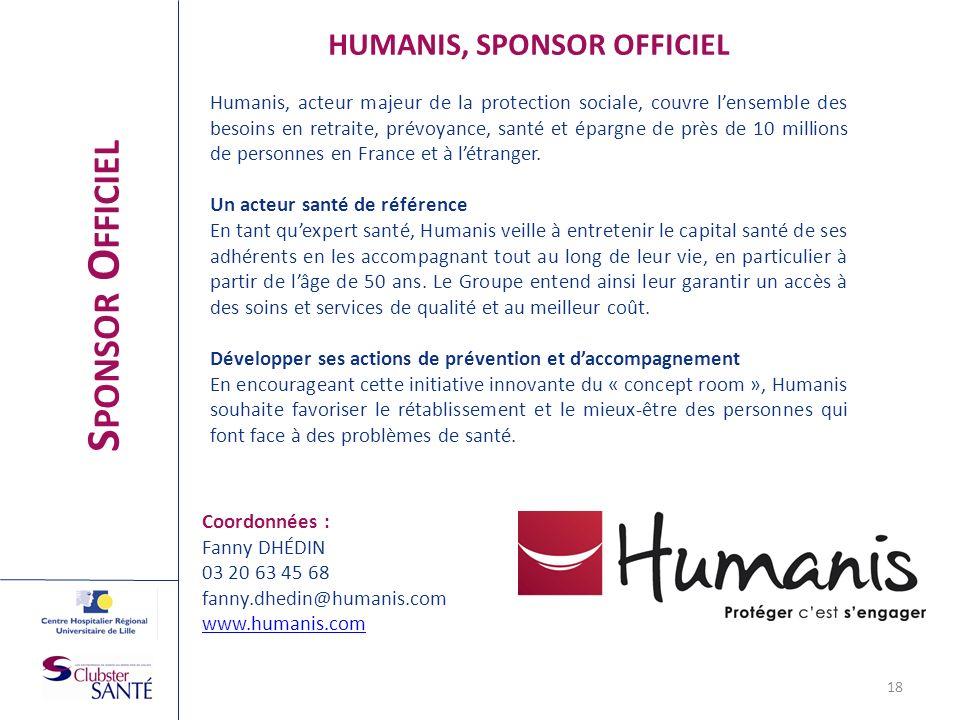 HUMANIS, SPONSOR OFFICIEL