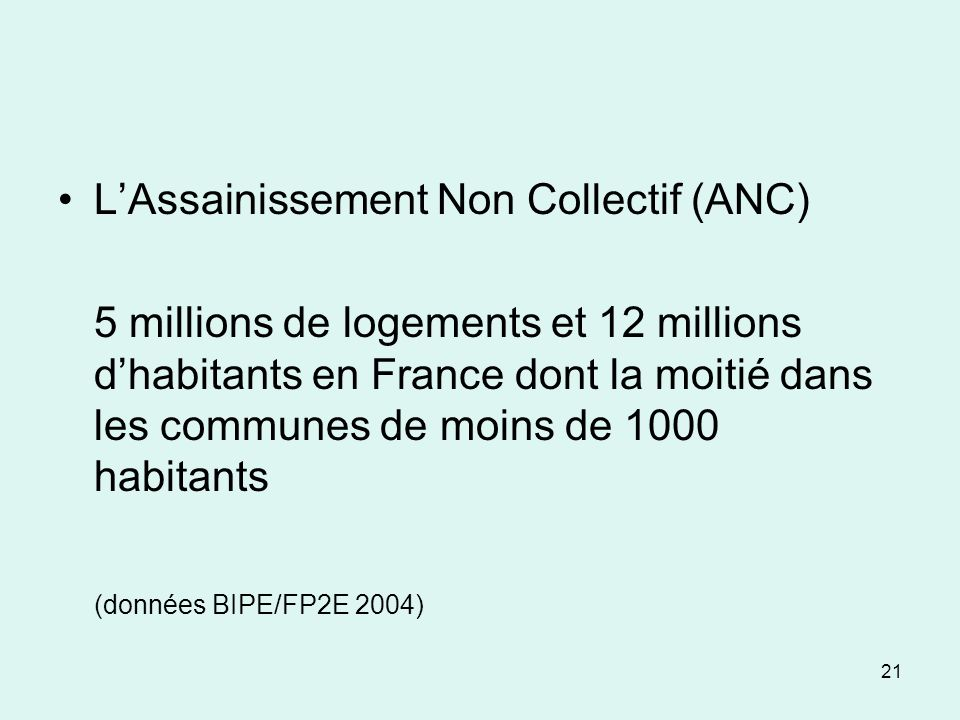 L'Assainissement Non Collectif (ANC)