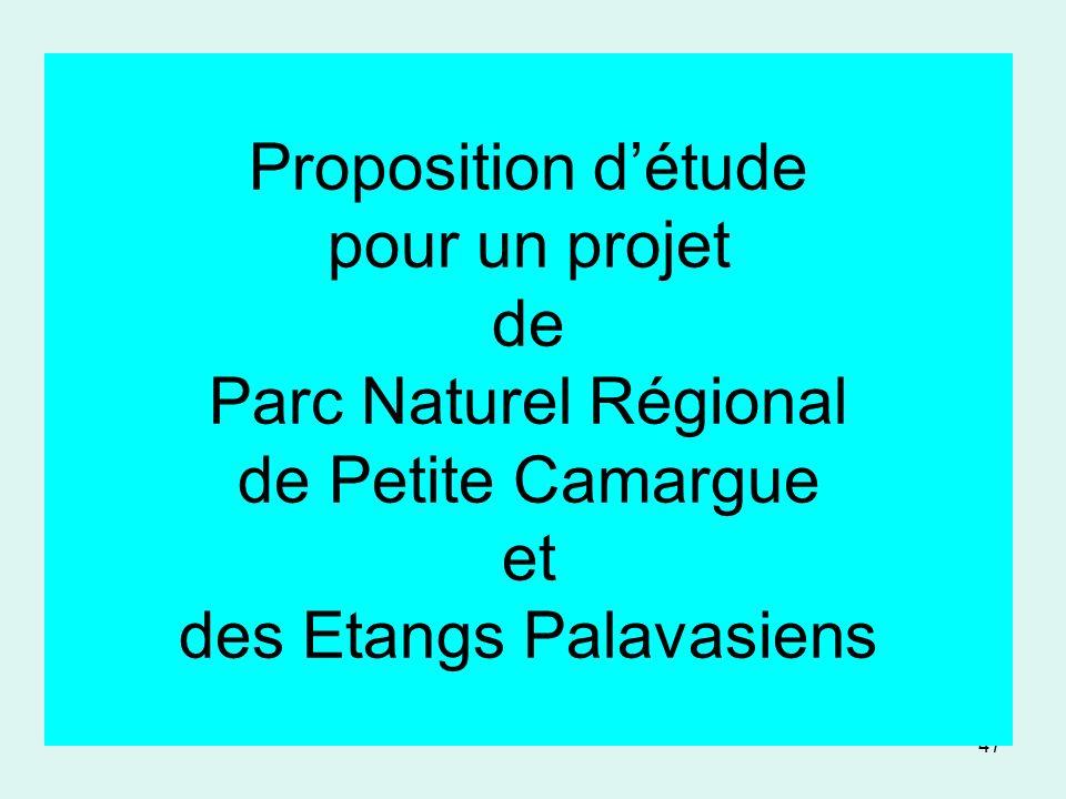 Proposition d'étude pour un projet de Parc Naturel Régional de Petite Camargue et des Etangs Palavasiens