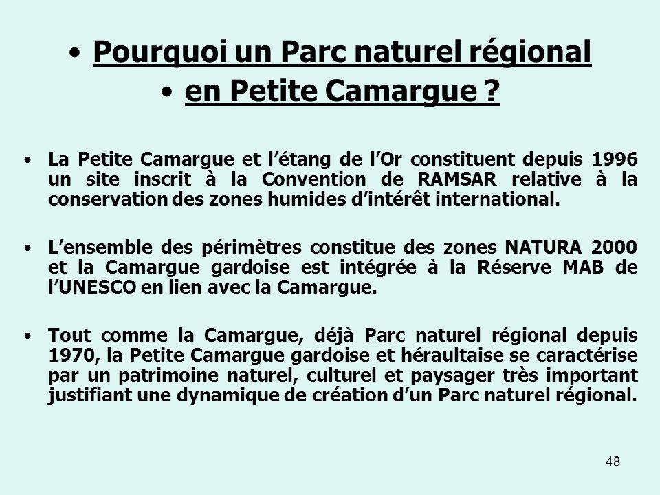 Pourquoi un Parc naturel régional
