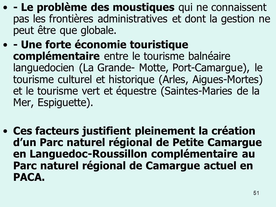 - Le problème des moustiques qui ne connaissent pas les frontières administratives et dont la gestion ne peut être que globale.