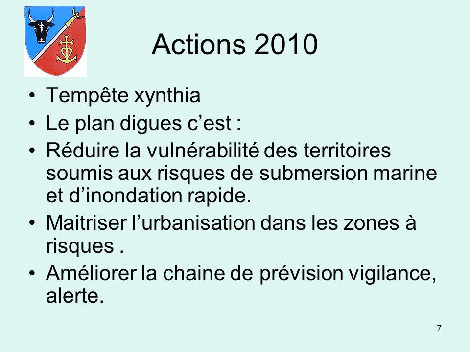 Actions 2010 Tempête xynthia Le plan digues c'est :