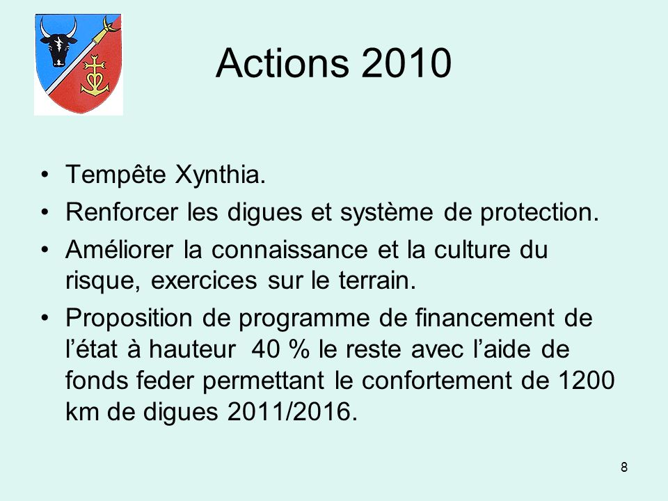 Actions 2010 Tempête Xynthia.