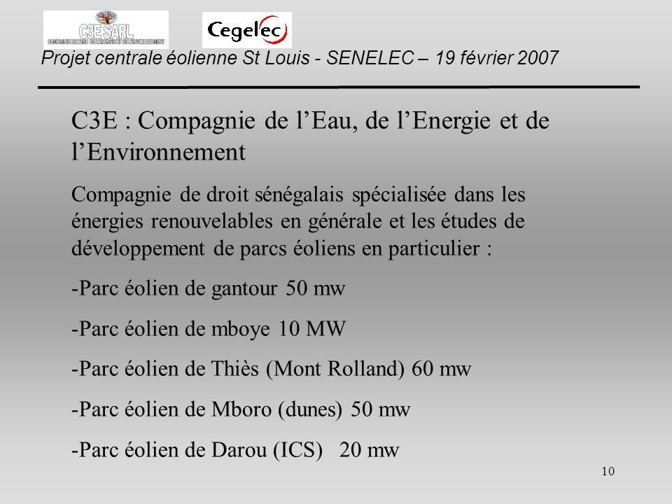 C3E : Compagnie de l'Eau, de l'Energie et de l'Environnement