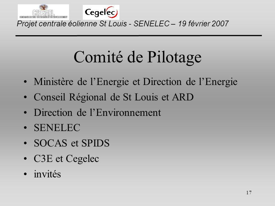 Comité de Pilotage Ministère de l'Energie et Direction de l'Energie