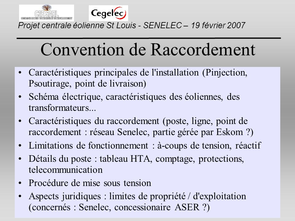 Convention de Raccordement