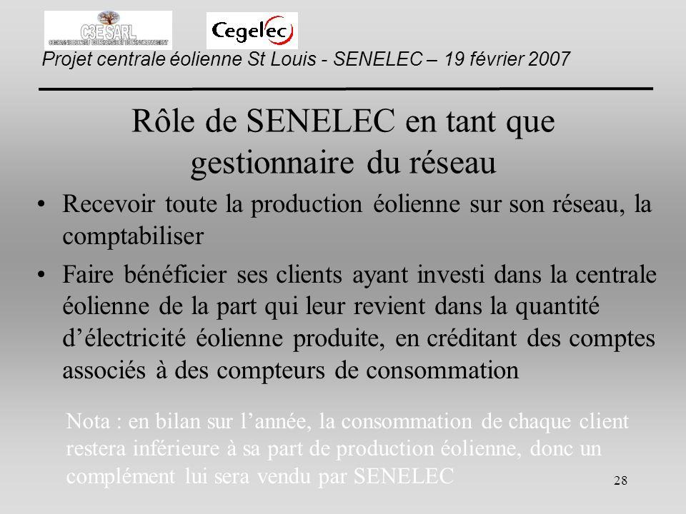 Rôle de SENELEC en tant que gestionnaire du réseau