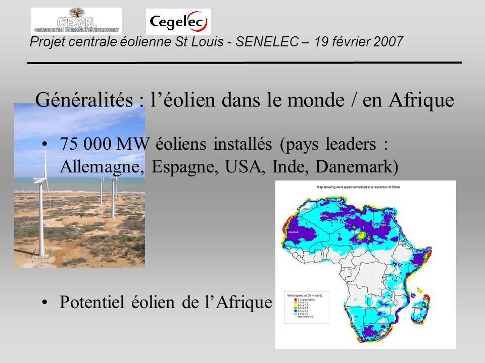 Généralités : l'éolien dans le monde / en Afrique