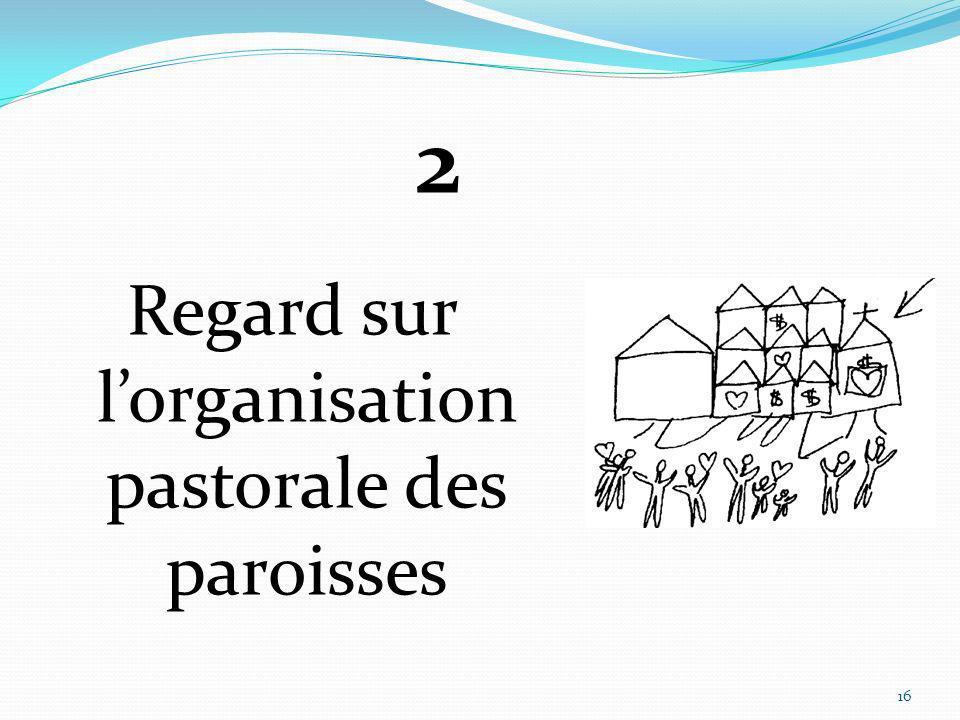 Regard sur l'organisation pastorale des paroisses