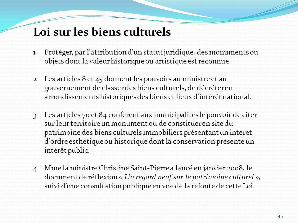 Loi sur les biens culturels