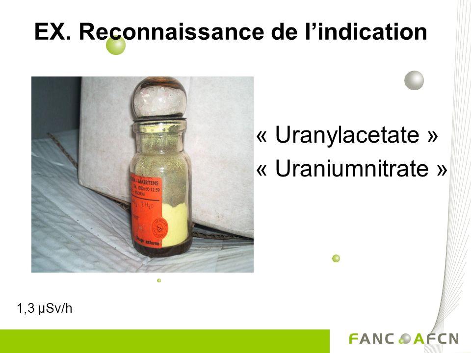 EX. Reconnaissance de l'indication