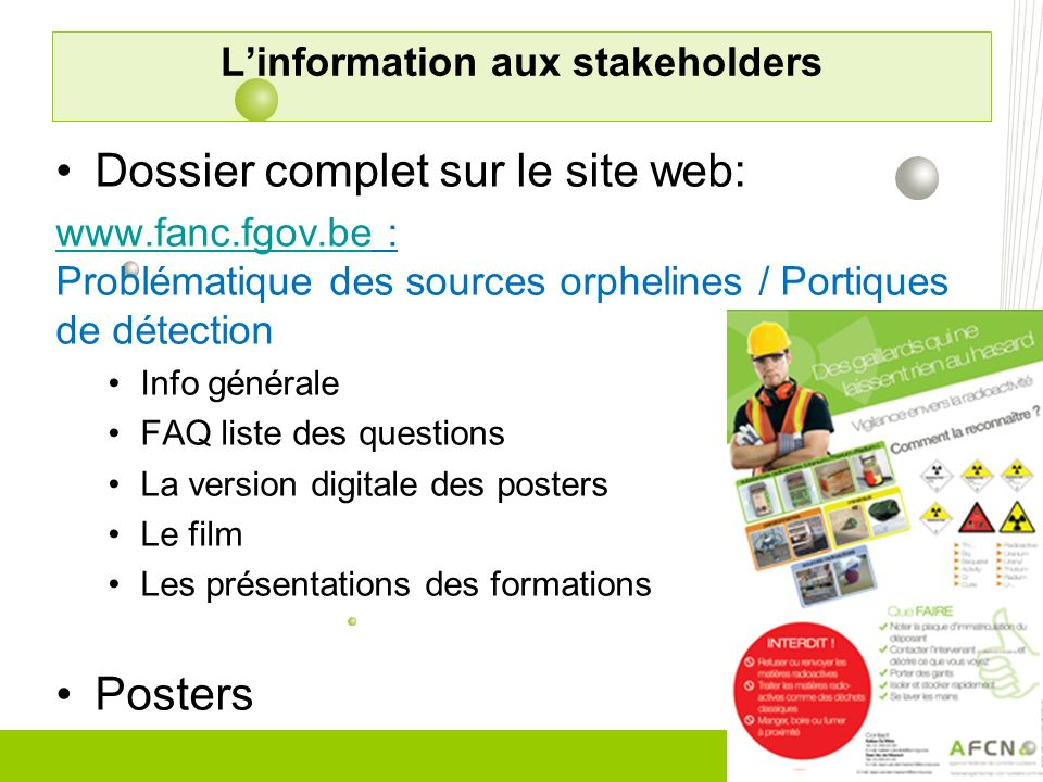L'information aux stakeholders