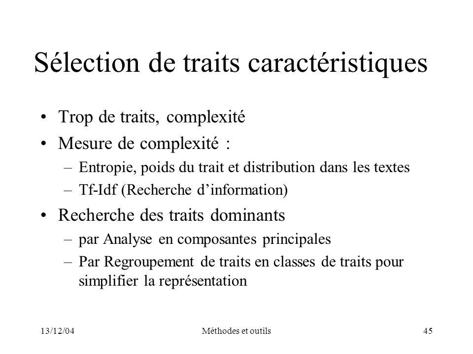 Sélection de traits caractéristiques