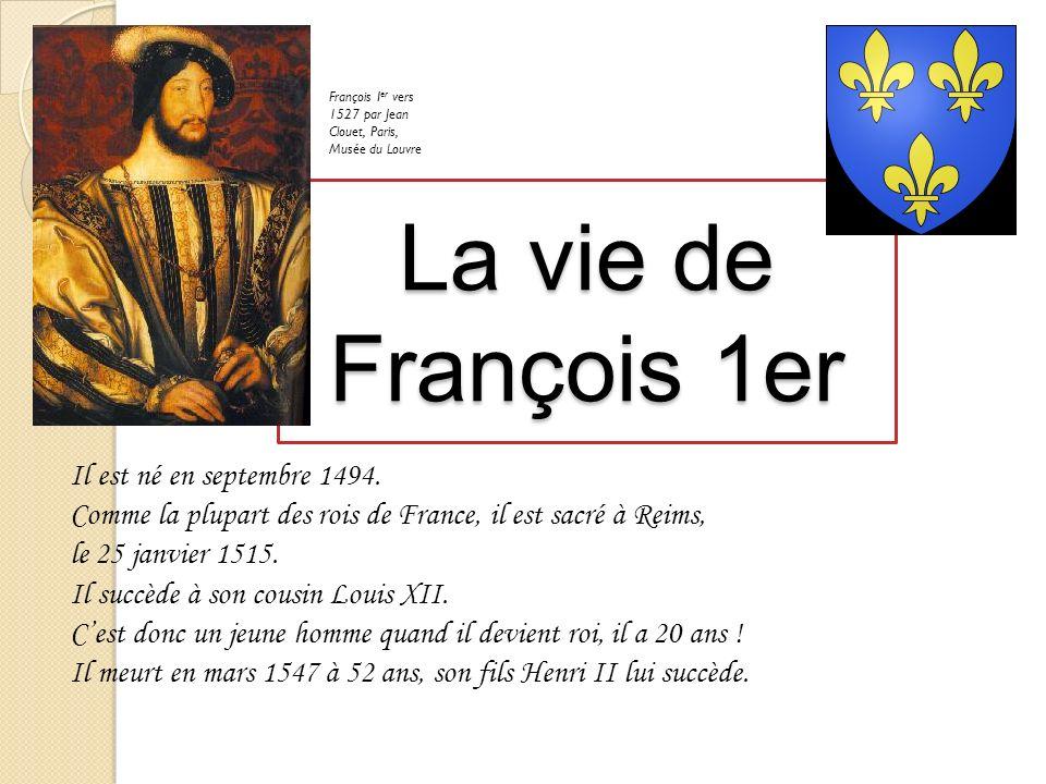 François Ier vers 1527 par Jean Clouet, Paris, Musée du Louvre
