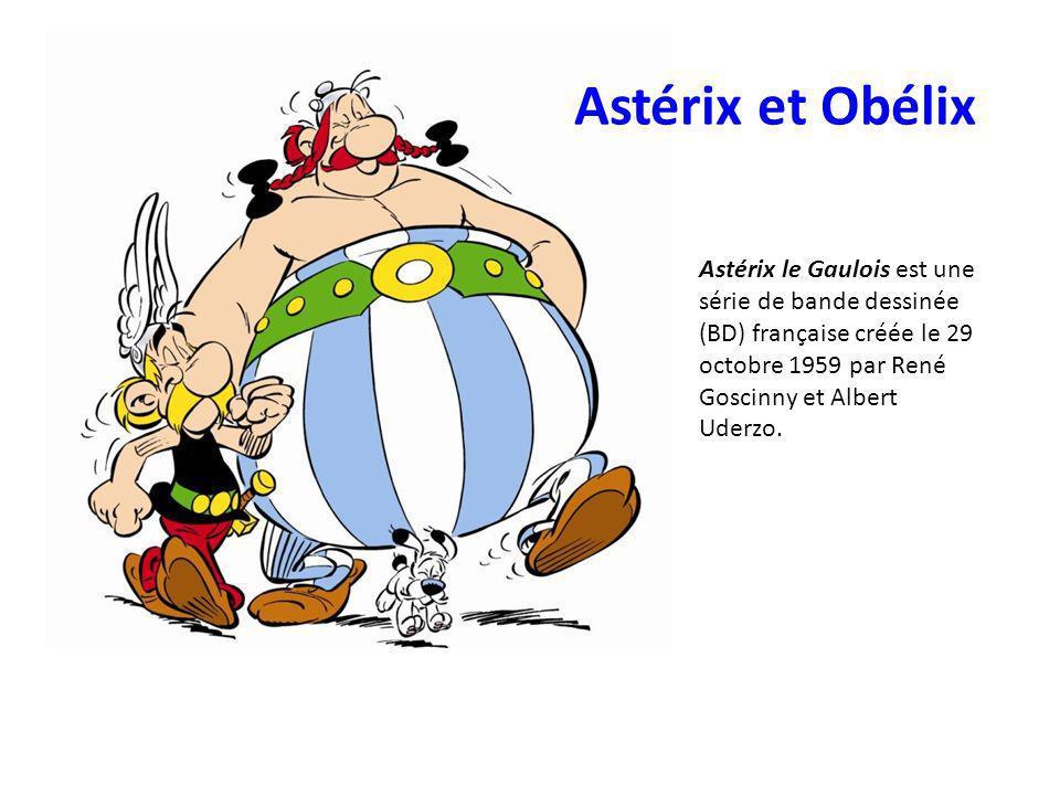 Astérix et Obélix Astérix le Gaulois est une série de bande dessinée (BD) française créée le 29 octobre 1959 par René Goscinny et Albert Uderzo.