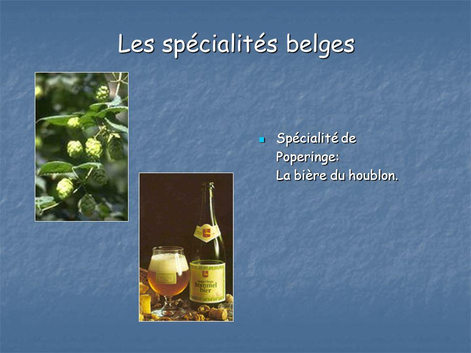Les spécialités belges