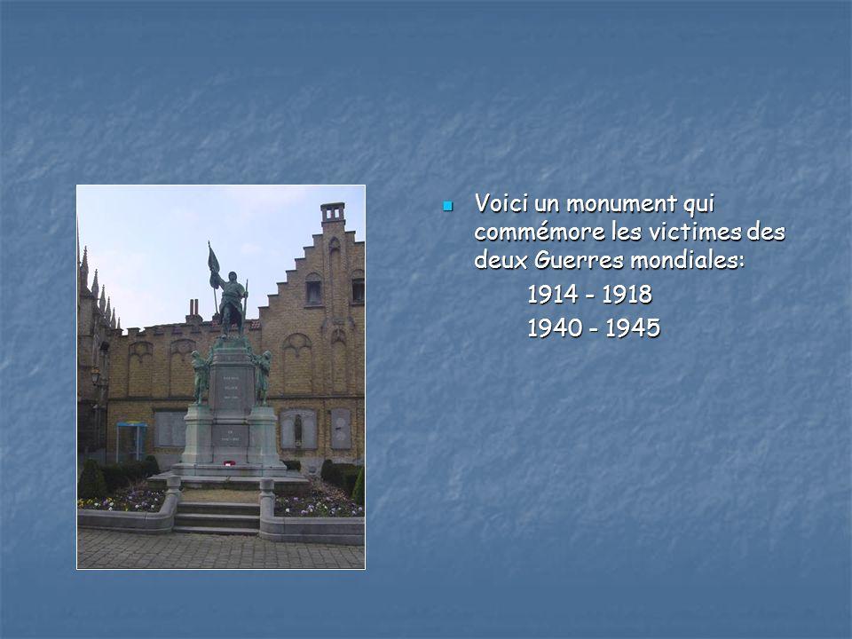 Voici un monument qui commémore les victimes des deux Guerres mondiales: