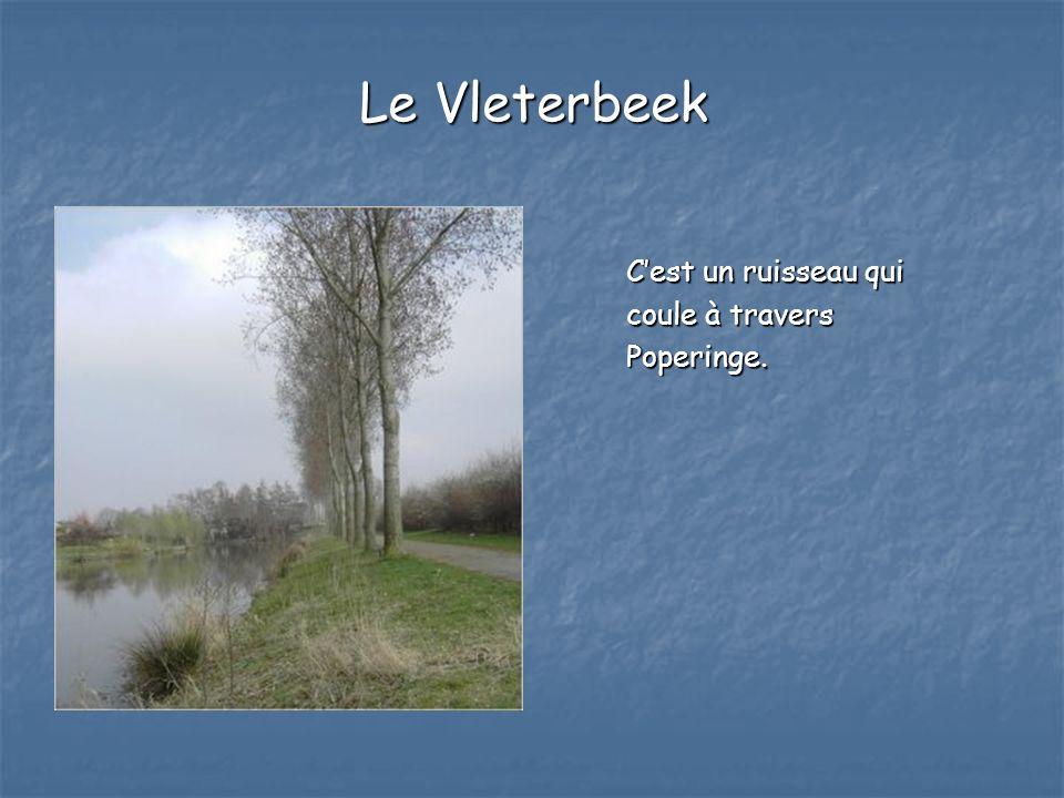 Le Vleterbeek C'est un ruisseau qui coule à travers Poperinge.