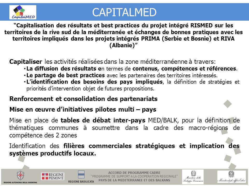 ACCORD DE PROGRAMME CADRE PAYS DE LA MEDITERRANEE ET DES BALKANS