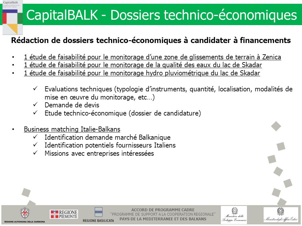 CapitalBALK - Dossiers technico-économiques