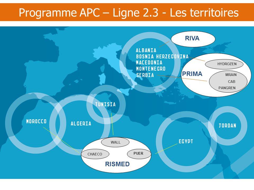 Programme APC – Ligne 2.3 - Les territoires