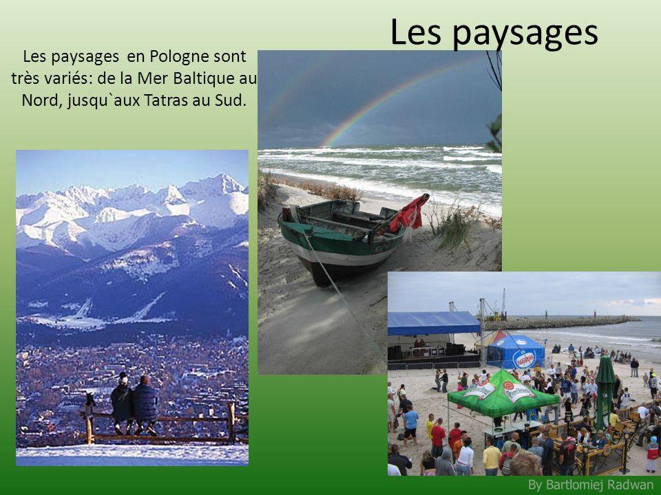 Les paysages Les paysages en Pologne sont très variés: de la Mer Baltique au Nord, jusqu`aux Tatras au Sud.