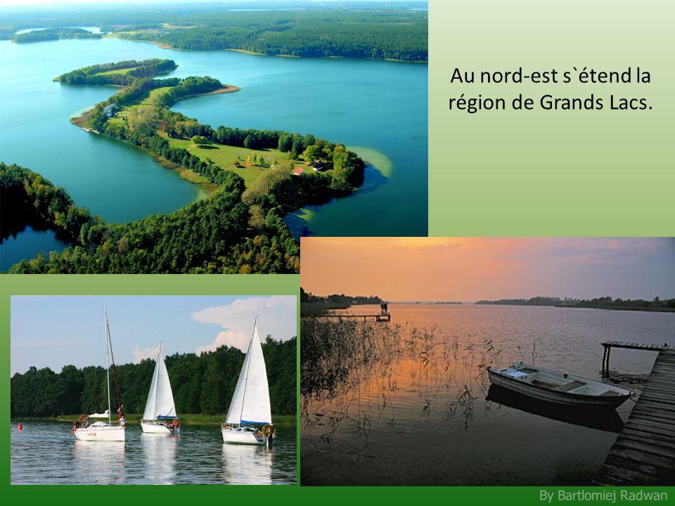 Au nord-est s`étend la région de Grands Lacs.