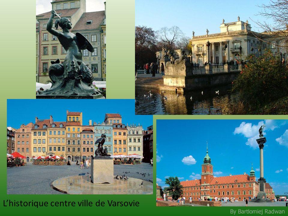 L'historique centre ville de Varsovie