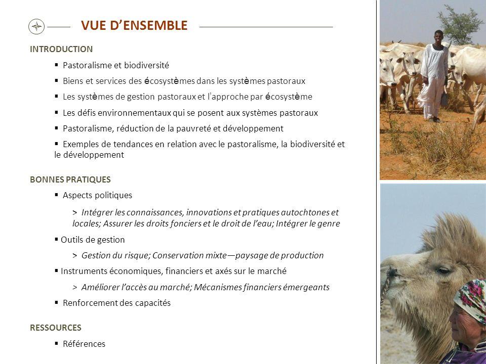 VUE D'ENSEMBLE  INTRODUCTION Pastoralisme et biodiversité