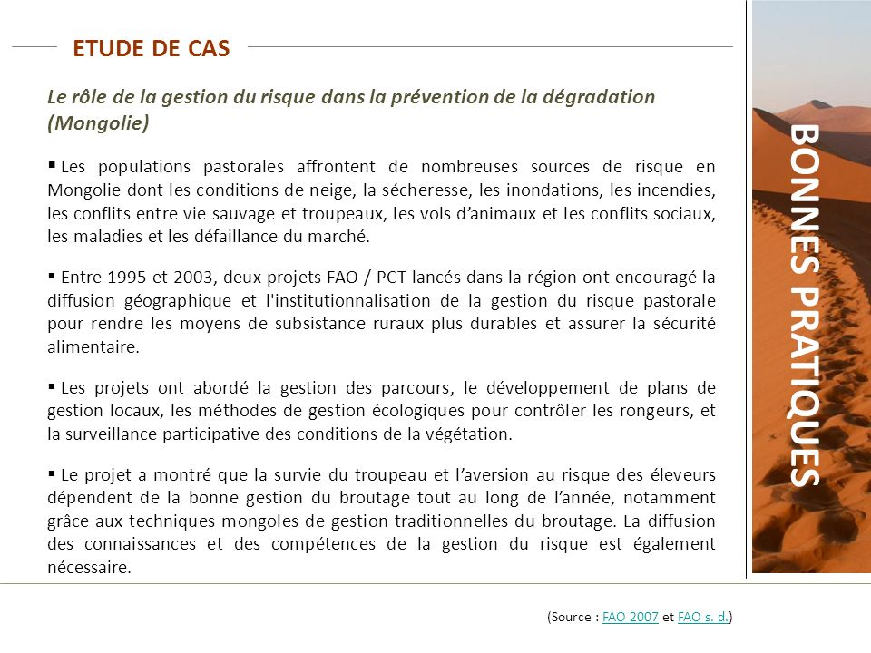 BONNES PRATIQUES ETUDE DE CAS