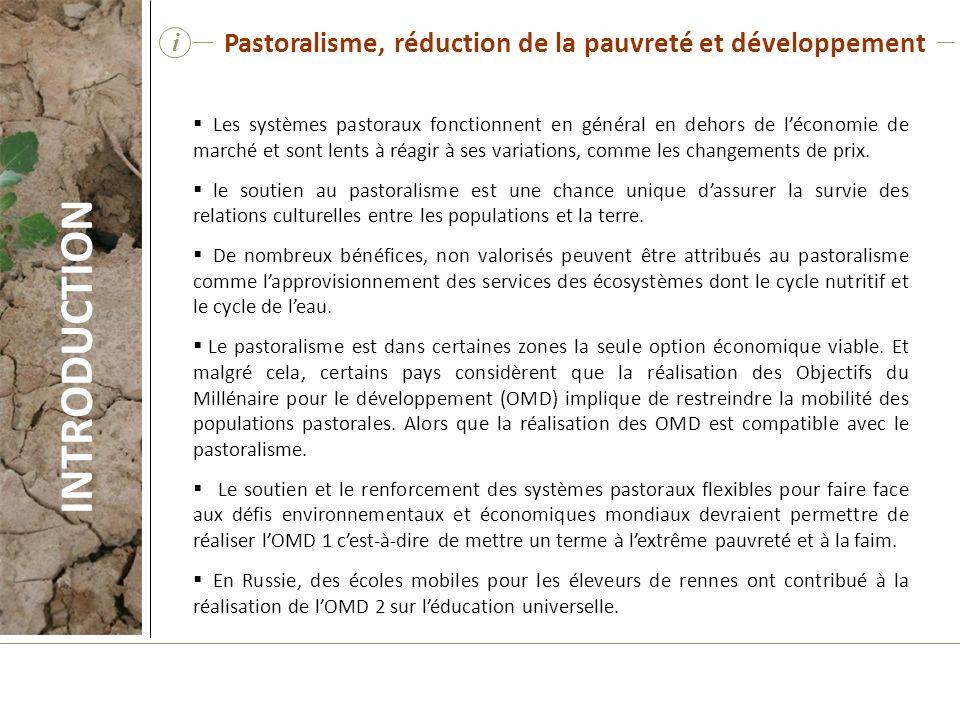 INTRODUCTION Pastoralisme, réduction de la pauvreté et développement i