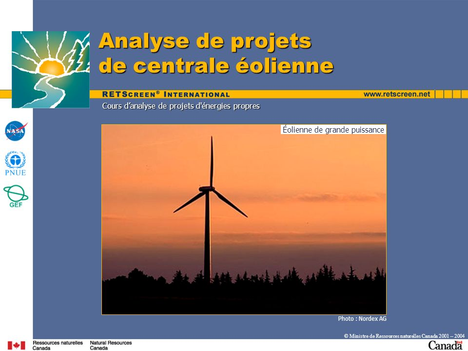 Éolienne de grande puissance