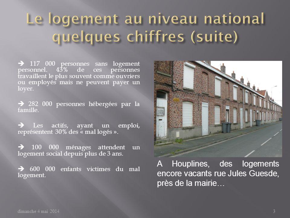 Le logement au niveau national quelques chiffres (suite)