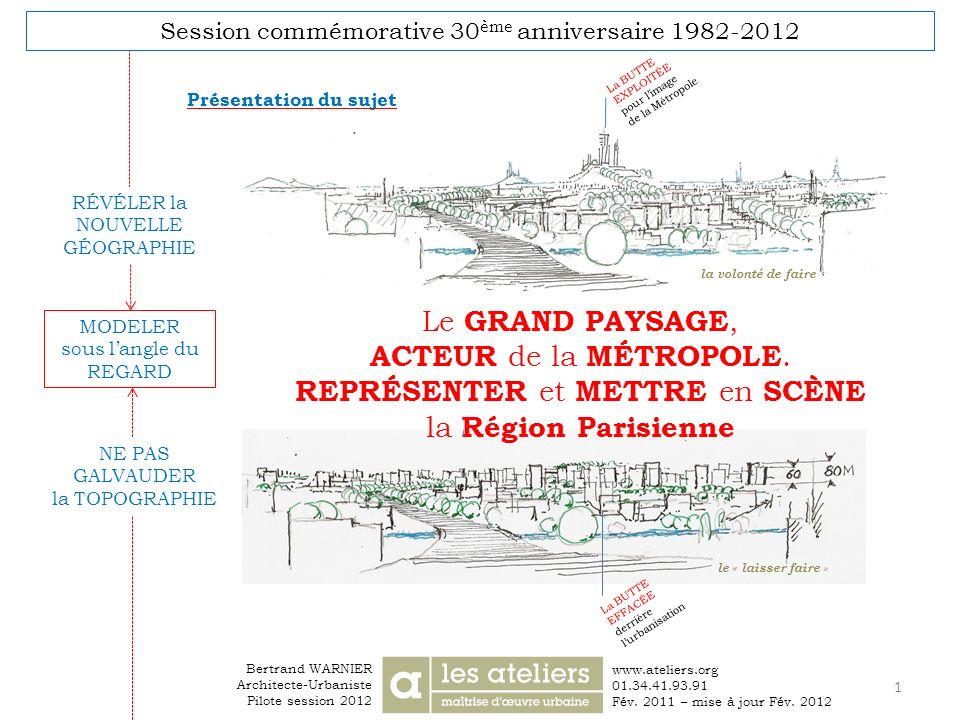 REPRÉSENTER et METTRE en SCÈNE la Région Parisienne