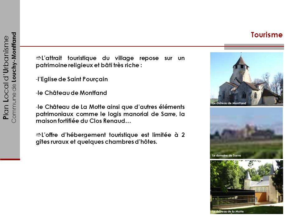 Tourisme L'attrait touristique du village repose sur un patrimoine religieux et bâti très riche : l'Eglise de Saint Pourçain.