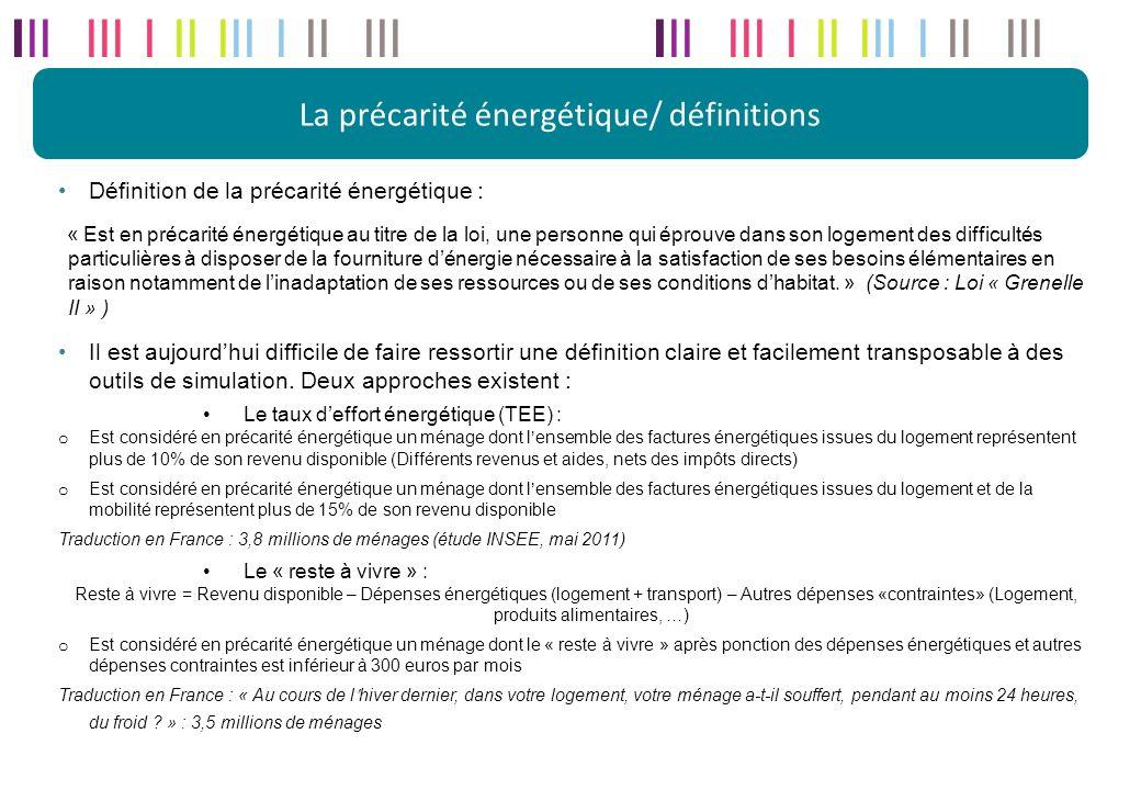 La précarité énergétique/ définitions