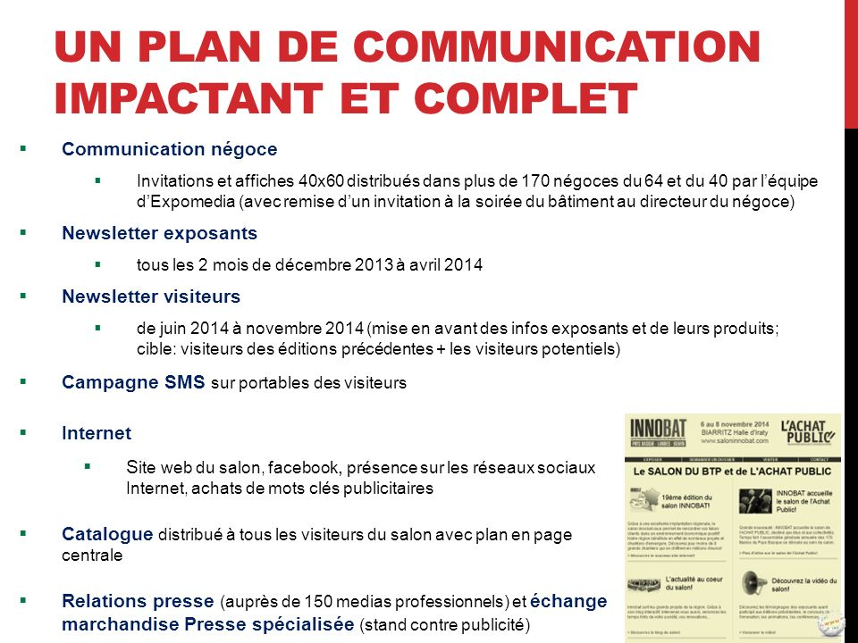 Un Plan de communication impactant ET COMPLET