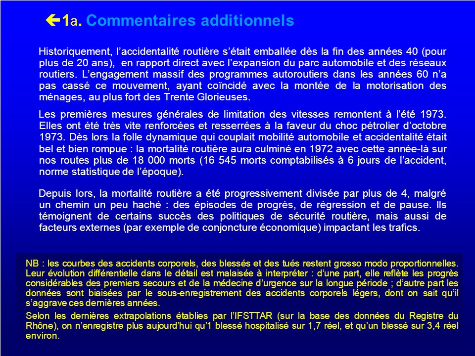 1a. Commentaires additionnels