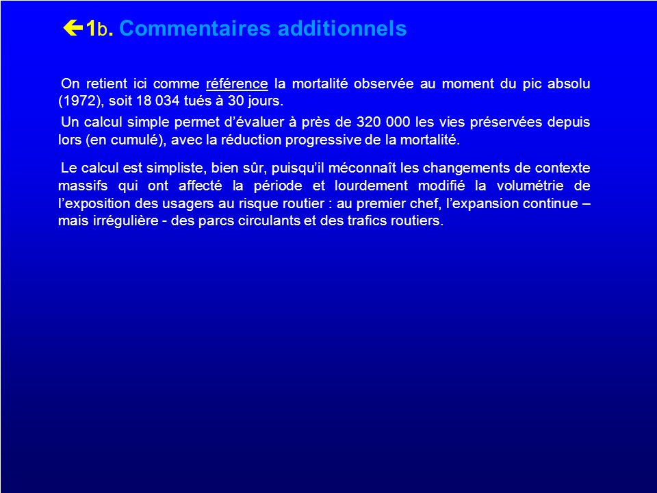 1b. Commentaires additionnels