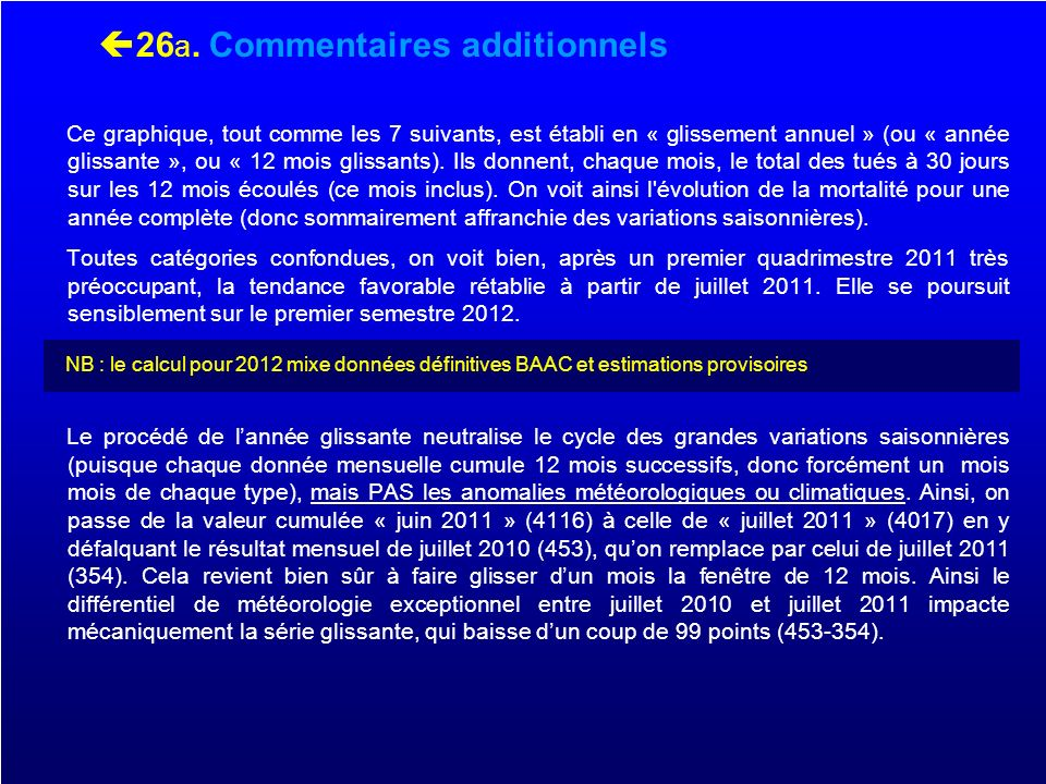 26a. Commentaires additionnels