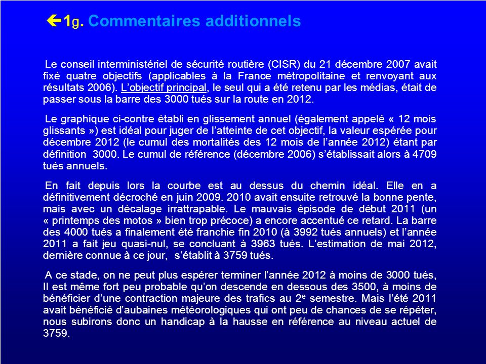 1g. Commentaires additionnels