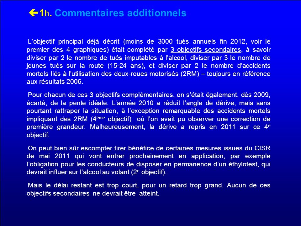 1h. Commentaires additionnels