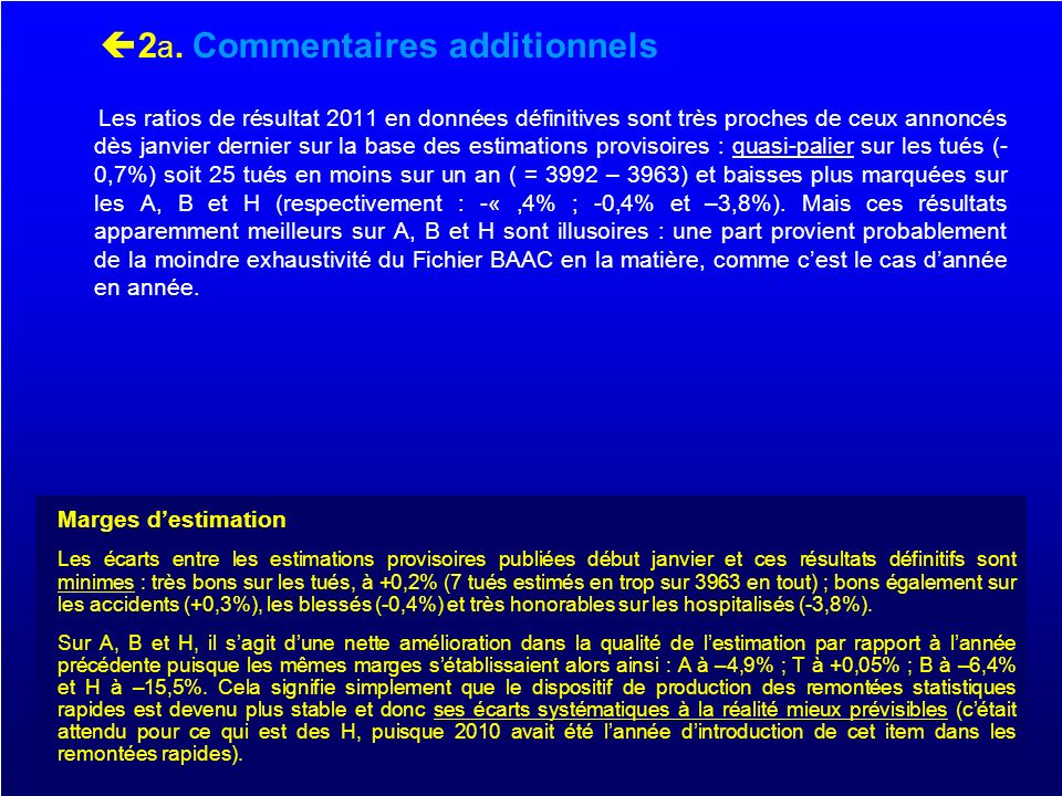 2a. Commentaires additionnels