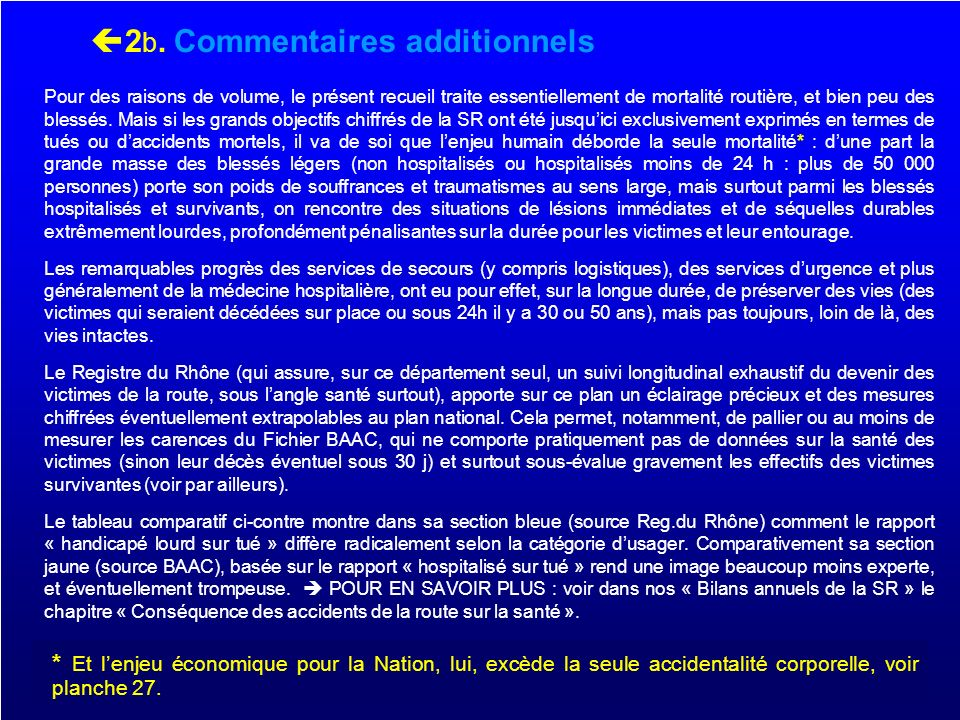 2b. Commentaires additionnels