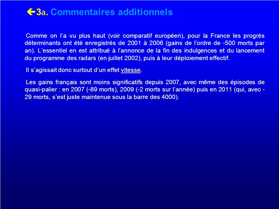 3a. Commentaires additionnels