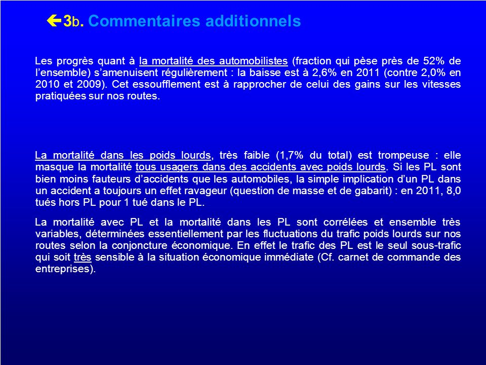 3b. Commentaires additionnels