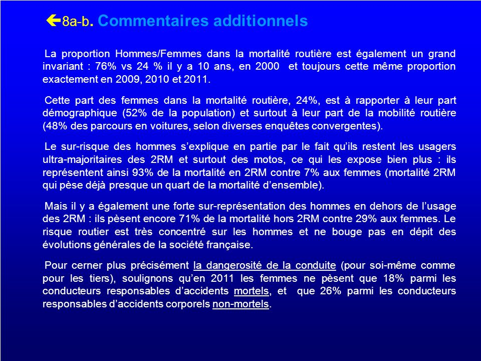 8a-b. Commentaires additionnels