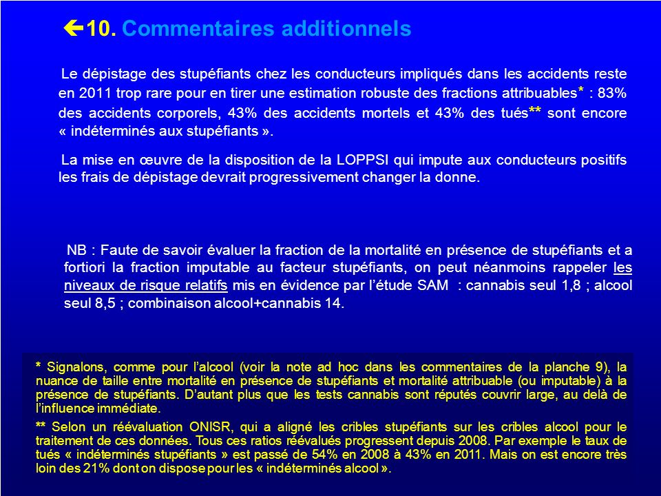 10. Commentaires additionnels